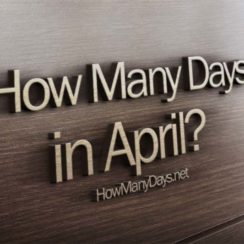 how many days in april, how many days are in april, how many days are there in april, how many days are in the month of april, how many days does april have