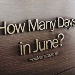 how many days in june, how many days does june have, how many days are june