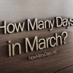 How many days in march? How many days are in march? How many days are in the month of march? How many days are there in march?