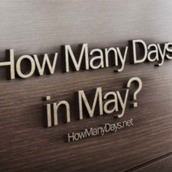 how many days in may, how many days does may have, how many days in month of may