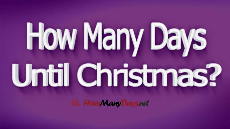 2019 How Many Days Until Christmas Christmas Countdown