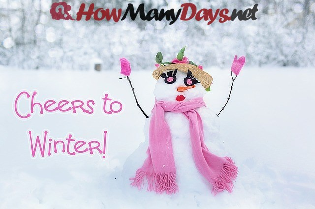 how many days are in winter, how many days in winter 2017, how many days is winter,