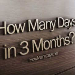 how many days in 3 months, how many days are in 3 months, how many days is in 3 months, how many days are there in 3 months