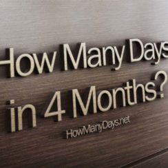 how many days in 4 months, how many days are in 4 months, how many days is in 4 months, how many days are there in 4 months