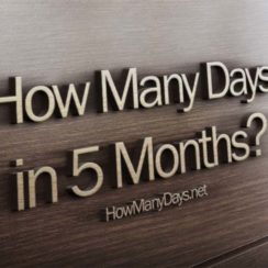 how many days in 5 months, how many days are in 5 months, how many days is in 5 months, how many days are there in 5 months