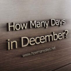 how many days in december, how many days does december have