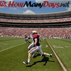 How many days until college football