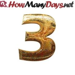 how many days until 3 march, How many days until 3rd March, How many weeks until 3rd March,