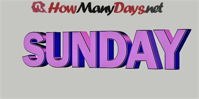 How Many Days Until Sunday?