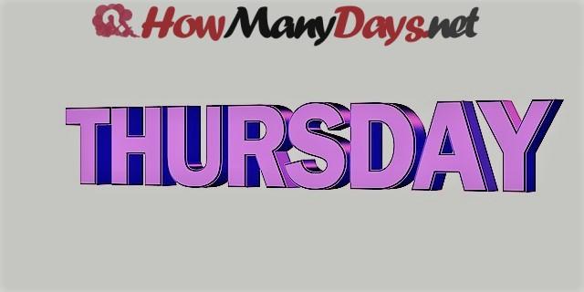 How Many Days Until Thursday